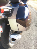 Saddle bag reflective panels