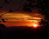SUNSET OVER MILLS RIVER