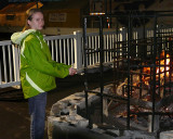 ROASTING MARSHMALLOWS IN THE NASCAR TRACK INFIELD - ISO 400