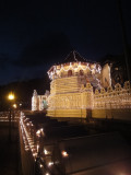 temple lit up