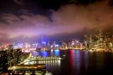 Hong Kong China Ferry at night