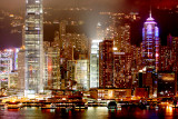 Island Hong Kong at night