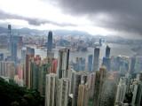 HK under clouds