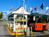 Old Town Trolley station at the Welome Center Key West