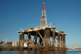 Oil Rig in Harbour