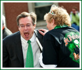 The Mayor Hears a Good One At The St. Pats Parade