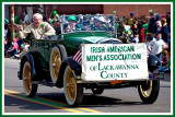 Waving from the Classic Car at the St. Pats Parade