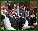 Lady Piper with the Green Shades at the Scranton St. Patty's Day Parade