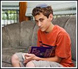 Serious Young Man Before His Bar Mitzvah