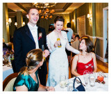 Bride and Groom Mingle with the Guests