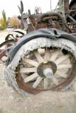 Steel rim but wooden spokes