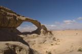 Wadi Rum desert, stone arch