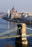 Budapest, Liberty Bridge & Parliament building