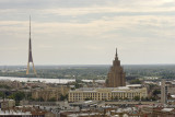 riga, view from St. Peter's church