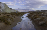panorama. Death Valley, Salt Creek