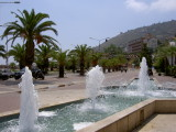 Fountains near the harbour