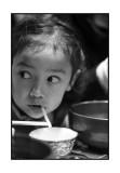 Jessica eating noodles, Tsukiji