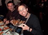 Foooood - Eugeni Capella and Joan Barrachina eating in the Marraquesh square