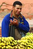 Banana seller in Marraqueix
