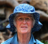 Margaret - The blue headed birder in the Paradise Valley  :)