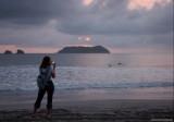 Manuel Antonio beach at sunset II
