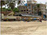 at the beach in Mumbai