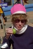 1996 - Ginny having lunch on Angel Fire ski trip