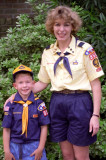 1994 - Ginny and David as Wolf Scouts