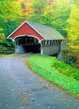 Covered Bridge over the Pemigewasset River, Franconia Notch State Park,  NH