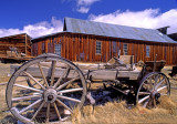 Wagon at ghost town, Bodie State Park, CA