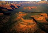 Aerial view of Doe Mountain, Sedona, AZ