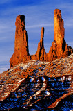 The Three Sisters, Monument Valley, Navajo Tribal Park, AZ/UT