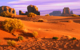 (MV4) Cly Butte and West Mitten, Monument Valley, UT