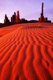 (MV2) Totem Pole and Dunes, Monument Valley, AZ/UT