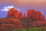 (SED1) Cathedral Rock Moonrise, Sedona, AZ
