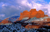 (SED11) Clearing snowstorm, Schnebly Hill Road, Sedona, AZ