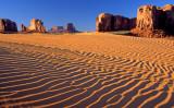 (MV6) Sand dunes and buttes, Monument Valley, AZ