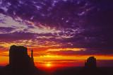 (MV1) Sunrise,  Monument Valley, AZ