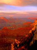 (GC6) Yavapai Point sunset, Grand Canyon, AZ