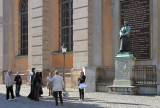At the Statue of Olaus Petri