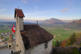 View from the Gruyere Chateau toward Broc