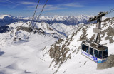 The Lift from Col des Gentianes Arrives at Mont Fort