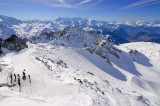 Skiing Moguls at Mont Fort