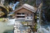 A small water mill hut
