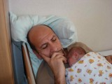 Having a nap with Dad