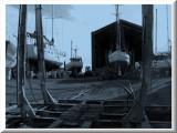 Boatyard by moonlight