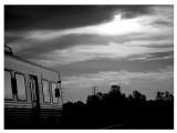 evening_train bw