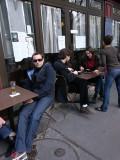 Cafe along Canal Saint-Martin