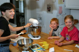 Maddy and Nick Help Mom make cookies.