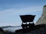 el refugi d'Ándara està al costat d'una mina, és una antiga casona que usaven els miners